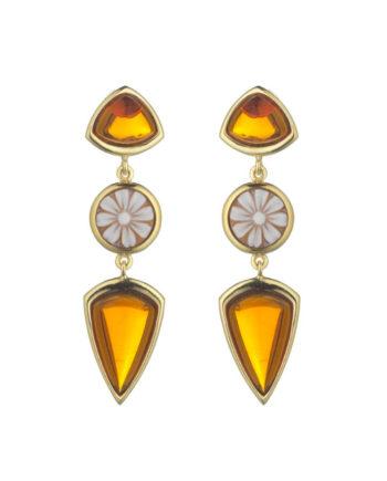 Orecchini Cammeo Doppia Rugiada Miele | Gaetano Vitiello Jewelry
