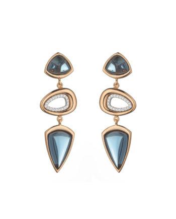 Orecchini Doppia Rugiada Cielo | Gaetano Vitiello Jewelry