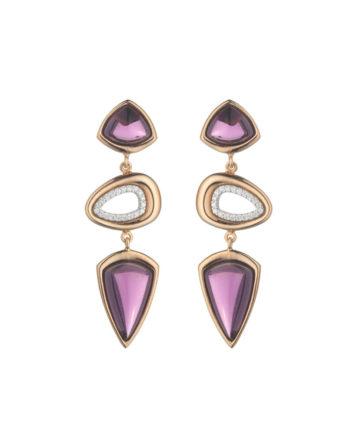Orecchini Doppia Rugiada Lavanda | Gaetano Vitiello Jewelry