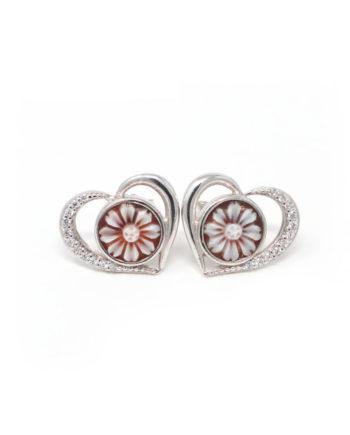 Orecchini Cammeo Daiana Cuore Argento | Gaetano Vitiello Jewelry