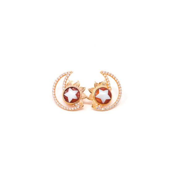 Orecchini Cammeo Daiana Sole Luna Oro | Gaetano Vitiello Jewelry