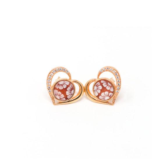 Orecchini Cammeo Daiana Cuore Oro | Gaetano Vitiello Jewelry