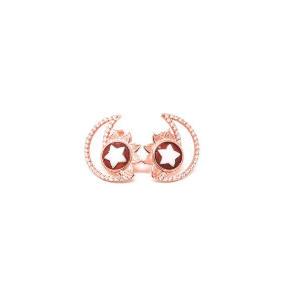 Orecchini Cammeo Daiana Sole Luna Rosato   Gaetano Vitiello Jewelry