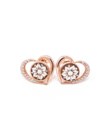 Orecchini Cammeo Daiana Cuore Rosato | Gaetano Vitiello Jewelry