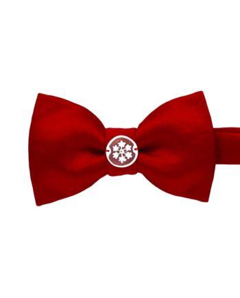 Xmas Papillon Deluxe rosso con cameo Fiocco di Neve